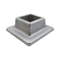 "Aluminum Shoe. 1-5/8"" Height, Fits 2"" Square."