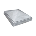 "Aluminum Sand Cast Post Cap. Fits 4"" Square."