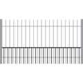 "DOG PANEL PICKET 1"" Rail 16G 1/2"" Picket 18G 24""x94â"