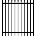 "Gate Pressed Point 1-1/2"" Rail16G 5/8"" Picket 18G-70""x96â"
