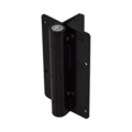 Aluminum KwikFit Hinge, Black,2 Side Fixing Legs, w/Screws