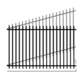 "Picket 1.25"" Rail 14G 5/8"" Picket 18G-58""x94"" Rake"