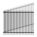 "Picket 1.25""2Rail 14G 5/8"" Picket 18G-70""x94"" Rake"