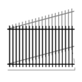 "Pressed Point 1.25"" Rail 14G 5/8"" Picket 18G-58""x94"" Rake"