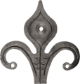 "Forged Steel Decor Brackets 11-1/16""H x 10-7/16""W"