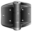 "Tru-Close Adjustable Hinge. 3-1/2"" x 5"""