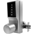 Unican 1000EE Lockset, Satin Chrome, Double