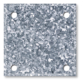 "galvanized steel baseplate 3""square w/ 3/8"" holes"