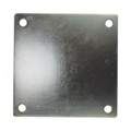 "Galvanized steel base plate 8""SQ 9/16"" holes Thickness 1/4"""