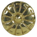 "Brass Rosette. Threaded Hole1/4"" x 1-1/2"""