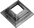 "Forged Steel Shoe,fits 3 1/8""SQ 1""H, 4-3/4""W"