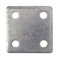 "Aluminum base plate, 3"" SQ 7/16"" holes Thickness 3/8"""