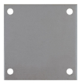 "Aluminum base plate, 4"" SQ7/16"" holes, Thickness 3/8"""