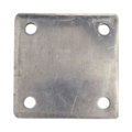 "Aluminum base plate, 4"" SQ 7/16"" holes, Thickness 3/8"""