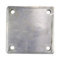 "Aluminum base plate 5"" SQ 7/16"" holes Thickness 3/8"""
