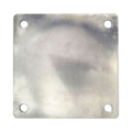 "Aluminum base plate 6"" SQ 7/16"" holes, Thickness 3/8"""