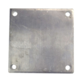 "Aluminum base plate, 8"" SQ 9/16"" holes, Thickness 1/2"""