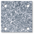 "Galvanized steel base plate 6""SQ 7/16"" holes, Thickness 3/8"""