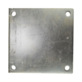 "Galvanized steel base plate,8""SQ 9/16"" holes, Thickness 1/2"""