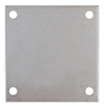 "Galvanized steel baseplate 10""SQ 9/16"" holes, Thickness 1/2"""