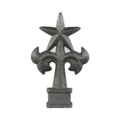 "Cast Iron Spear ""Texas Star"" Fits 3/4""Sq"