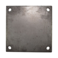 "Steel Base Plate, 8"" SQ 9/16"" holes, Thickness 1/2"""