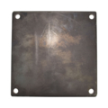 "Steel base plate, 10"" SQ 9/16"" holes, Thickness 1/2"""