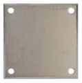 "Beveled Steel Base Plate 4"" SQ7/16"" holes, Thickness 3/16"""