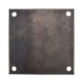 "Beveled Steel Base Plate 8"" SQ9/16"" holes, thickness 1/4"""