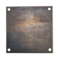 "Beveled Steel Base Plate 10""SQ9/16"" holes, Thickness 1/4"""