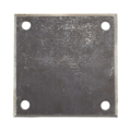 "Beveled Steel Base Plate 5"" SQ7/16"" holes, Thickness 3/8"""