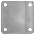 "Aluminum Base Plate, 6"" Square7/16"" Holes, Thickness 3/16"""