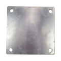 "Aluminum Base Plate 8"" Square 9/16"" Holes, Thickness 1/4"""