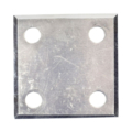 "Beveled ALUM Base Plate 3"" SQ 7/16"" Holes, Thickness 3/16"""
