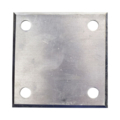 "Beveled ALUM Base Plate 4"" SQ 7/16"" Holes, Thckness 3/16"""