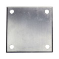 "Beveled ALUM Base Plate, 5"" SQ7/16"" Holes, Thickness 3/16"""