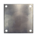 "Beveled ALUM Base Plate 8"" SQ 9/16"" Holes, Thickness 1/4"""