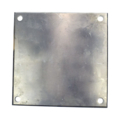 "Beveled ALUM Base Plate 10"" SQ 9/16"" Holes, Thickness 1/4"""