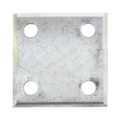 "Beveled ALUM Base plate 3"" SQ 7/16"" Holes, Thickness 3/8"""