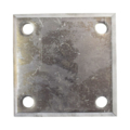 "Beveled ALUM Base Plate 4"" SQ 7/16"" holes, Thickness 3/8"""
