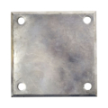 "Beveled ALUM base plate, 5"" SQ7/16"" holes, Thickness 3/8"""