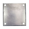 "Beveled ALUM base plates 6"" SQ7/16"" holes, Thickness 3/8"""