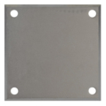 "Beveled ALUM Base Plate 8"" SQ9/16"" Holes, 1/2"" Thickness"