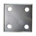 "Galvanized Beveled Base plate 3"" SQ 7/16"" holes, 3/16"" Thick"