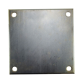"Galvanized Beveled Base Plate 8"" SQ 9/16"" holes, 1/4"" Thick"