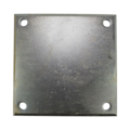 "Galvanized Beveled Base Plate 6"" SQ 7/16"" Holes, 3/8"" Thick"