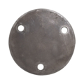 "Steel Base Plate 4-3/4"" RND 7/16"" Holes, 3/16"" Thick"