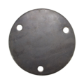 "Steel Base Plate 6-3/4"" RND 9/16"" Holes, 1/4"" Thick"