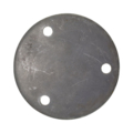"Steel Base Plate 4-3/4"" RND 7/16"" Holes, 1/4"" Thick"