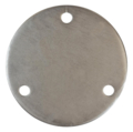 "Steel Base Plate 6-3/4"" RND 9/16"" Holes, 1/2"" Thick"